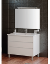 VANITY ON LEGS  45(D) x 80 (W) x 82 (H) cm, 3   drawers - WHITE