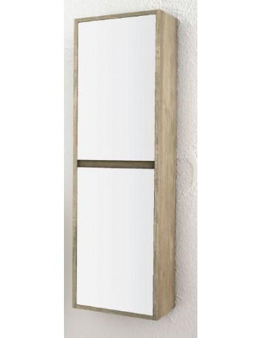 SUSPENDED BATHROOM WALL COLUMN - Texas Oak/White